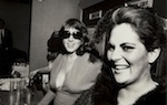 Untitled [Party, Fur, Feather and Big Sunglasses], ca. 1973, Gelatin silver print, 10 in. x 7 7/8 in. (25.4 cm x 20 cm). Gift of Marion Brenner and Robert Harshorn Shimshak.