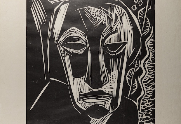 Image Credits: Karl Schmidt-Rottluff, Portrait of the Artist's Wife, 1922. Woodcut print on paper.