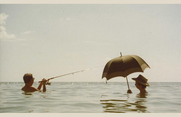 Rauschenberg and Julie Martin, Captiva, Florida, 1978. Photo: Attributed to Billy Klüver