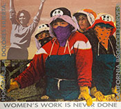 Women's Work Is Never Done, Yolanda M. Lopez ,1995. Silkscreen on paper