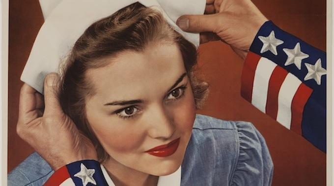 Become a Nurse–World War II Poster