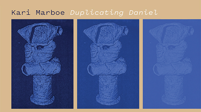 Kari Marboe, Reprint: Duplicating Daniel Series, 2018, Photocopy of missing Daniel Rhodes sculpture, brown color study using a stack of Clay and Glazes for the Potteron fired ceramic table. Sculpture made from the artist's personal collection of Daniel Rhodes' textbook.