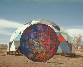 Richard Kallweit, Ultimate Painting, 1966 in front of Theatre Dome at Drop City