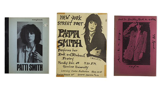 Assorted Materials from The Patti Smith Collection of the F. W. Olin Library, Mills College.
